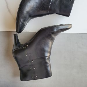Women's Ankle Leather Boots 9.5